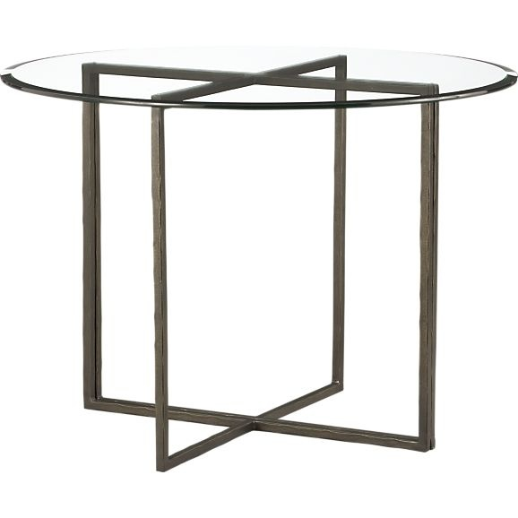 "Everitt 42"" Round Glass Top Dining Table in Dining Tables 