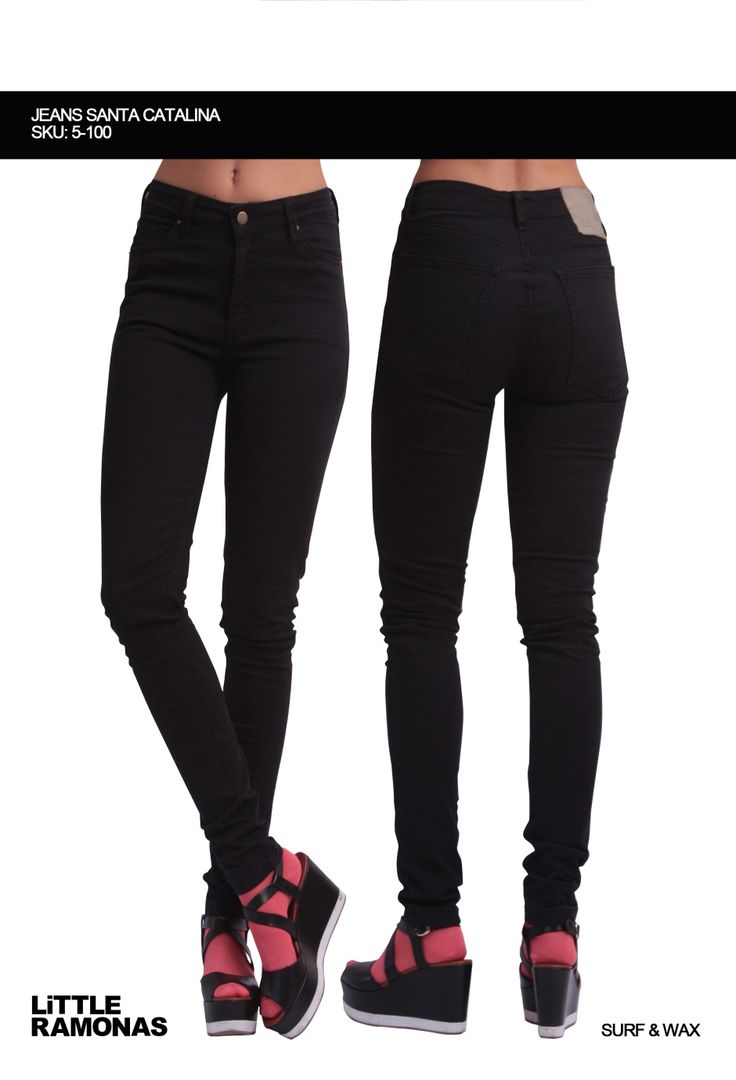 Santa Catalina Black Jeans www.littleramonas.com