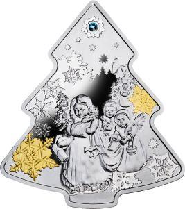 """Серебряная монета """"Новогодняя ёлочка"""" – милый  подарок к Новому Году и Рождеству!"""