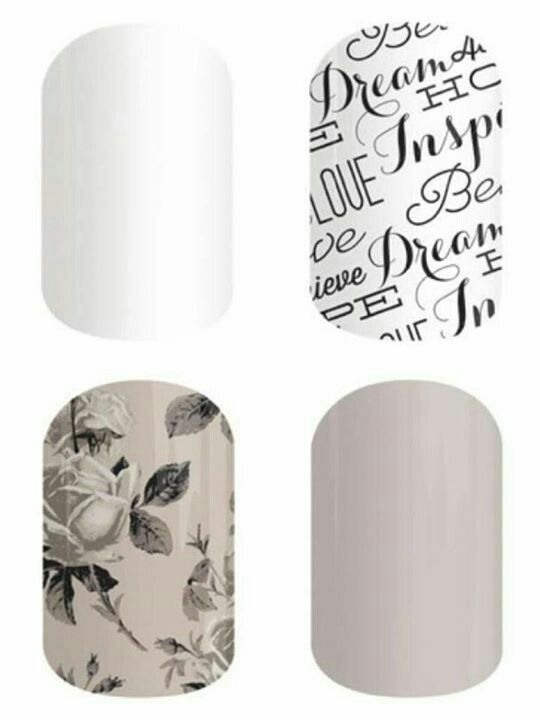 Whiteout, Word to the Wise, Timeless, Almond ♡ Jamberry Nails www.karaclark.jamberrynails.net