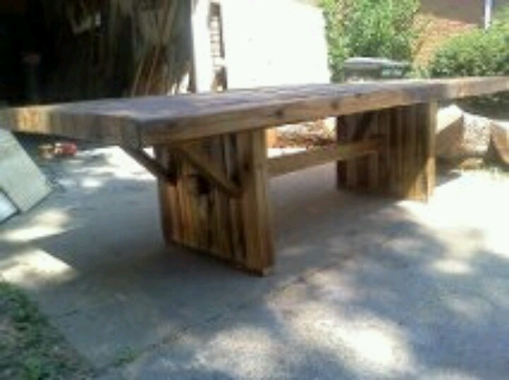 Reclaimed 4x4 Farm Dining Table 1680 Handmade Rustic