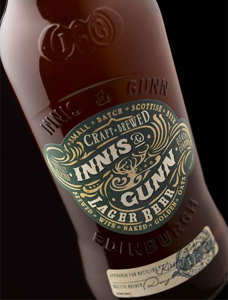 Innis & Gunn Lager labels, designed by Stranger & Stranger.