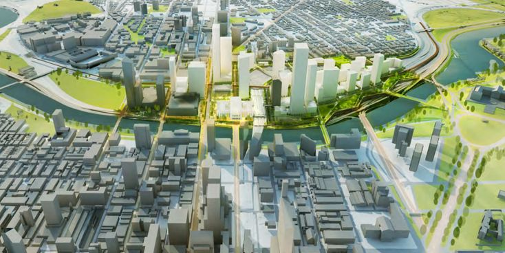 30th St. Station District Plan Releases Latest Renderings - Curbed Phillyclockmenumore-arrownoyes : New renderings reveal more parks, bridges, and a new-and-improved train station