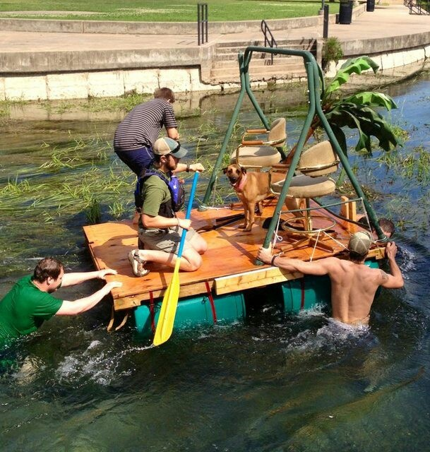 flc boating raft races homemade rafts table boat picnic table race ...