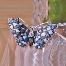 Броши 2015 оптовая продажа ( 3 шт. ) элегантность бабочка женщин старинные с черной эмалью эффект свадебные маленькие жемчужины брошь пен ювелирные изделия(China (Mainland))