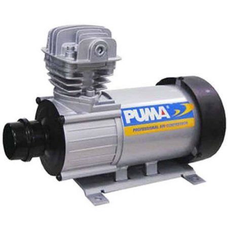 Puma Industries Air Compressor, DE07, Professional D.C. Direct Drive Oil-Less Series, .75 HP Running, 135 Max PSI, 12 Voltage/Phase, 19 lbs.