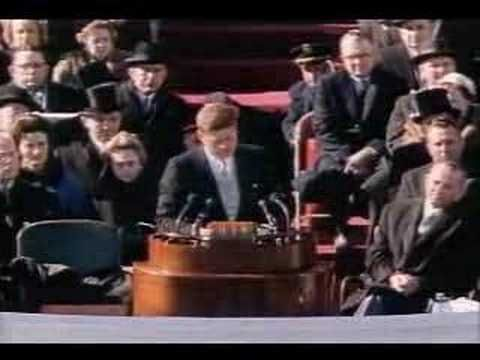 The swearing in and Inaugural Address of President John F. Kennedy. January 20, 1961