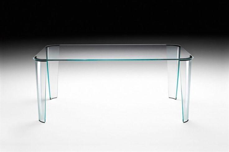 GlazenDesignTafel.nl | Glazen eettafel Montefeltro | FIAM | Italian design | Glass table by Enzo Mari | vidre glastoepassingen, Leiden