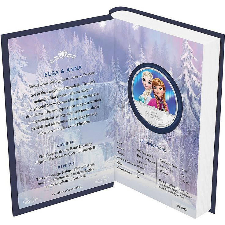 """Complete Frozen """"Northern Lights"""" Silver Coin Set Now Available"""