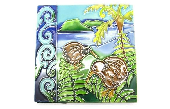 Paua World - Two Kiwis Ceramic Tile, $21.90 (http://www.pauaworld.com/two-kiwis-ceramic-tile/)
