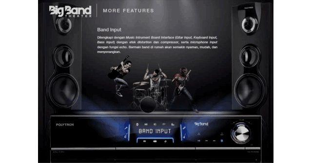 Polytron Big Band - Polytron menyajikan sound system hiburan untuk home theater di rumah dengan harga big band Polytron terjangkau dan murah untuk kantong orang Indonesia