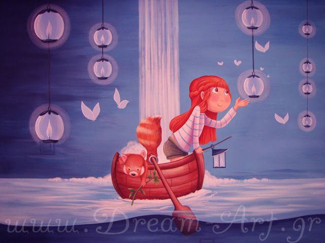 Dream-Art.gr: Το δωμάτιο της Εμμέλειας! Ζωγραφική στον τοίχο παι...
