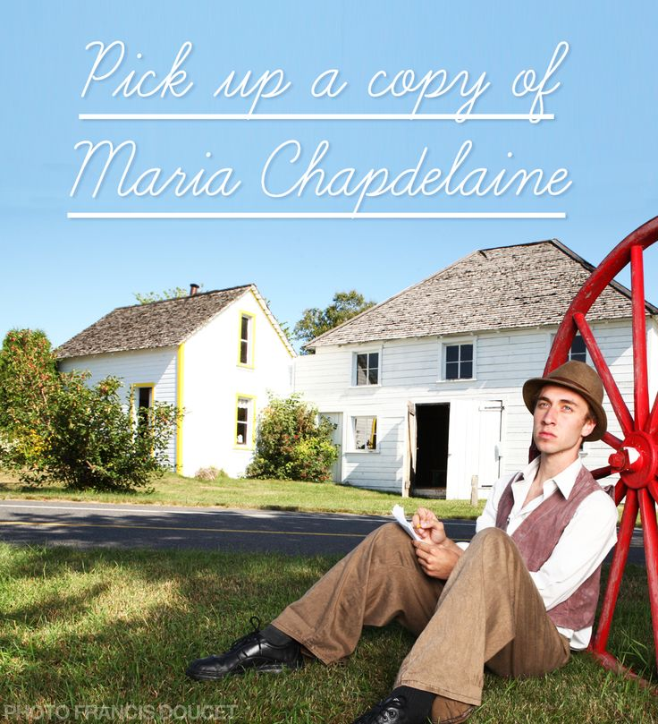 Reason #149 to visit Saguenay-Lac-Saint-Jean region this summer : Pick up a copy of Maria Chapdelaine. #175reasons #QcOriginal