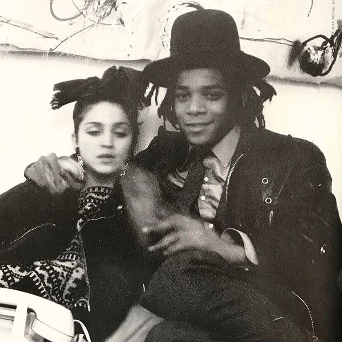 """7,938 Likes, 48 Comments - IDEA (@idea.ltd) on Instagram: """"Photo by the late great Glenn O'Brien. Younger daze. Madonna and Jean-Michel Basquiat from Downtown…"""""""