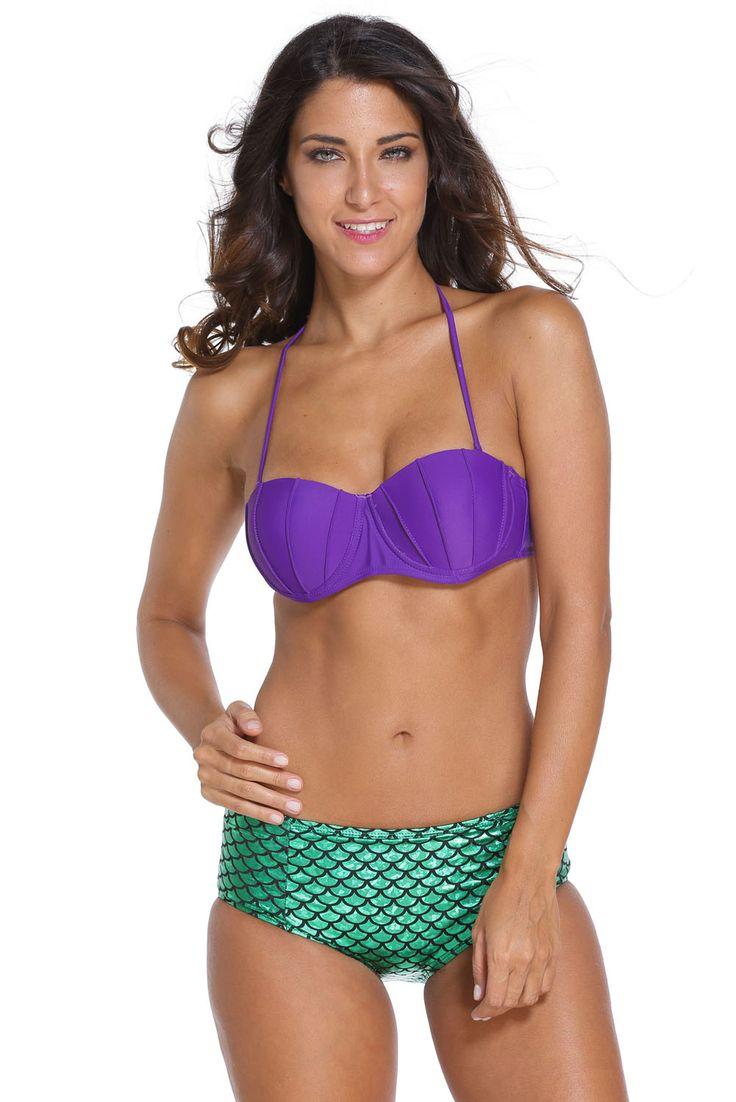 Prix: €12.06 Maillots De Bain Taille Haute Petite Sirene Ariel Costume Tow Piece Swimsuit Pas Cher www.modebuy.com @Modebuy #Modebuy #CommeMontre #sexy #me #commentback