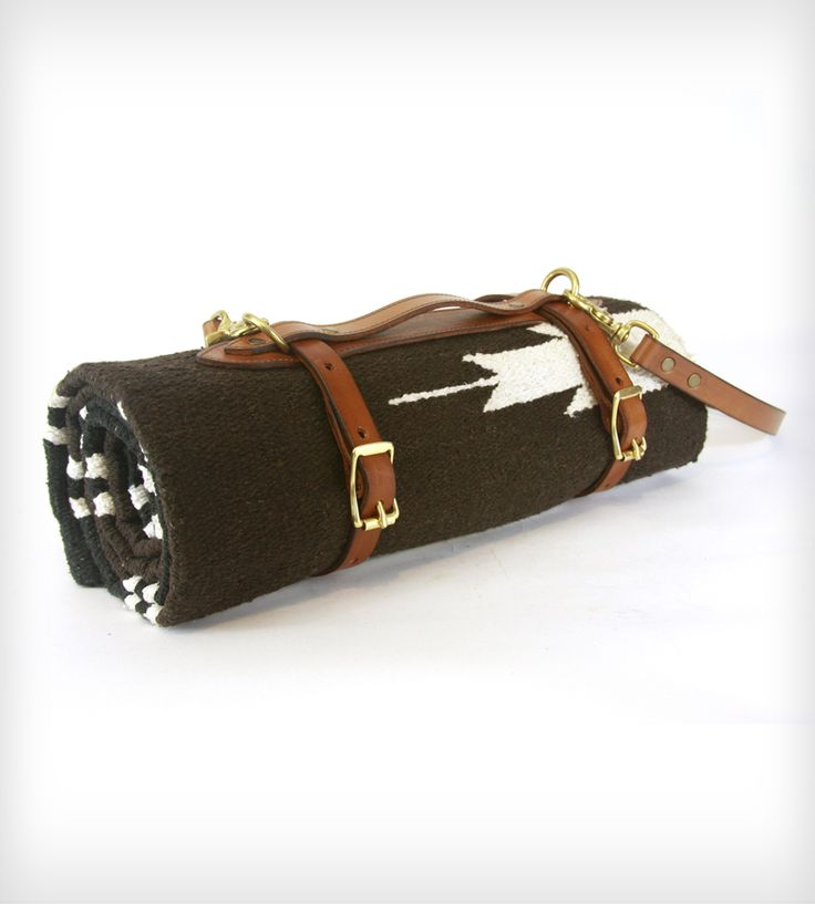 Leather Blanket Carrier with Saddle Blanket | Home Garden & Patio | Red Clouds Collective | Scoutmob Shoppe | Product Detail