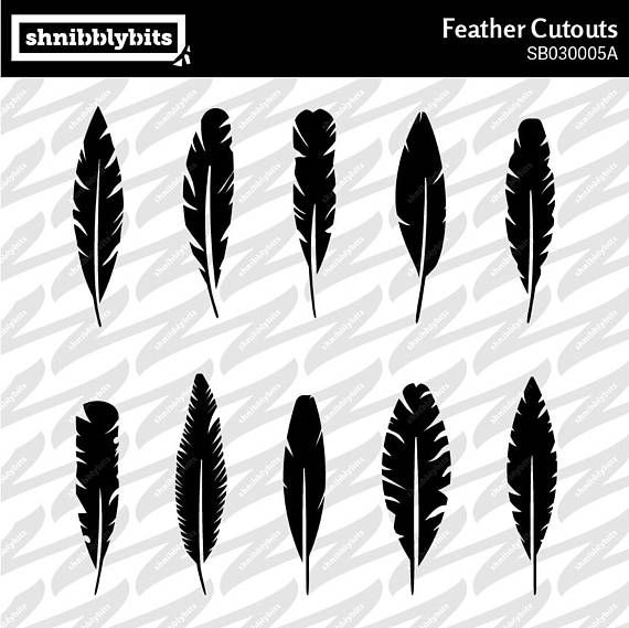 10 Feather Cutouts