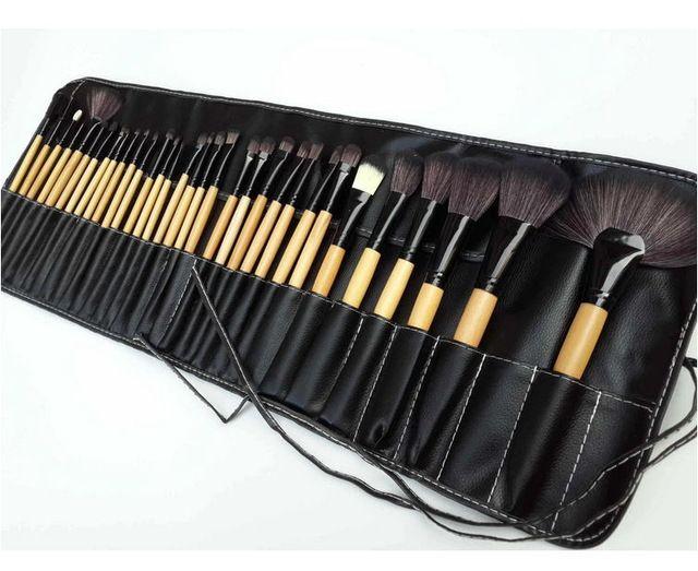 11/15/18/24/32pcs kit pinceis profissionais,elf makeup brushes set,Macio de Alta qualidade escova de cabelo+Preto bag de pinceis | @giftryapp