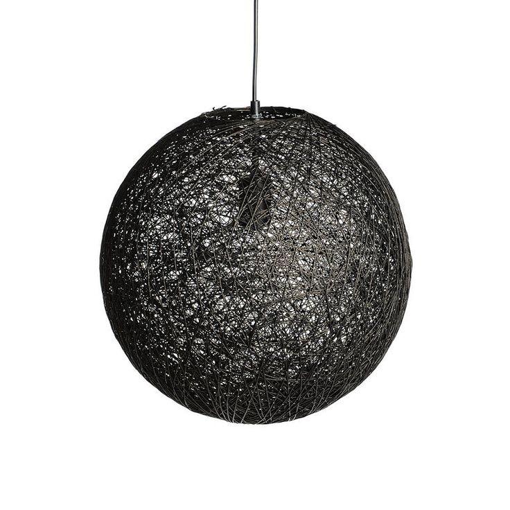Hängeleuchte schwarz ca D:40 x H:40 cm