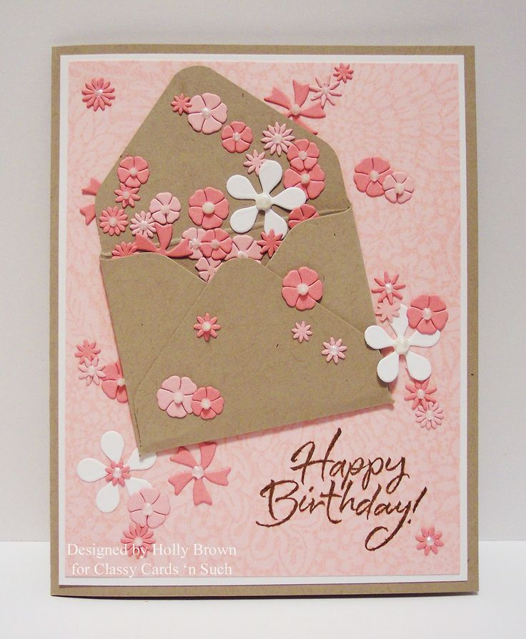 Holly's Envelope of Flowers . What a cute way to send birthday greetings to someone special. You can find the details here at http://classycardsnsuch.blogspot.com/2014/05/envelope-of-flowers.html
