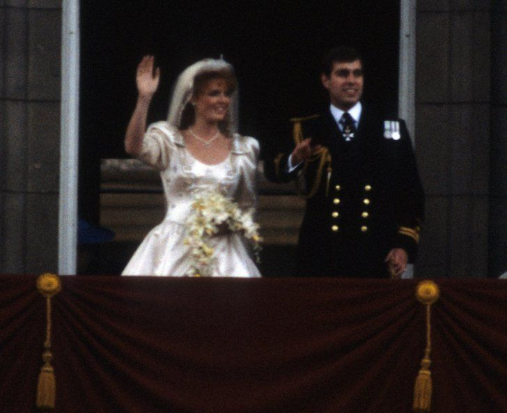 Pin for Later: The Ultimate Celebrity Wedding Gallery  Prince Andrew, Duke of York, and Sarah Ferguson, Duchess of York, celebrated their wedding at Buckingham Palace in July 1986.