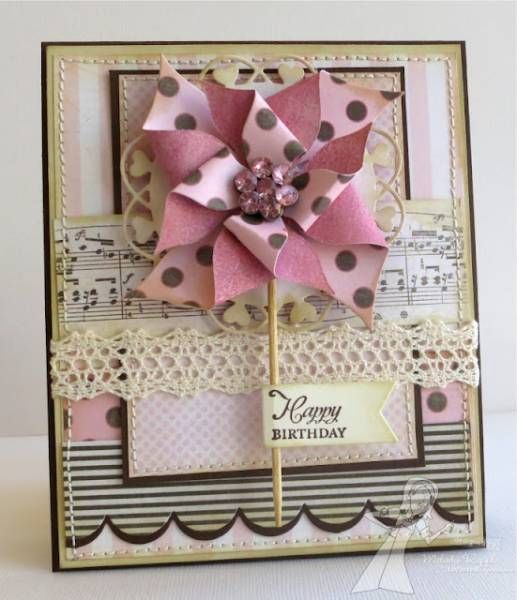 Pinwheel Happy Birthday Card...by mrupple - Cards and Paper Crafts at Splitcoaststampers.