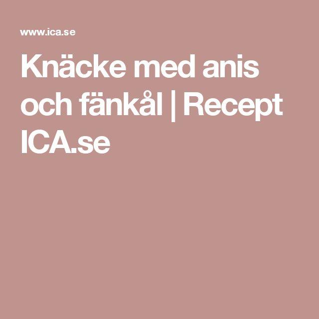 Knäcke med anis och fänkål | Recept ICA.se