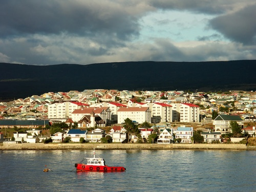 The harbor at Punta Arenas, Chile.   | PlanetWare