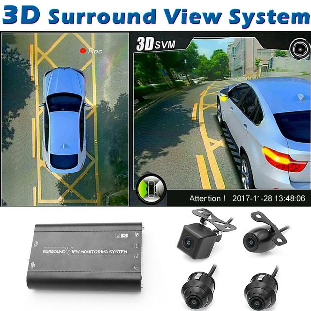Greenyi 3d Hd 360 Car Surround View Monitoring System Bird View