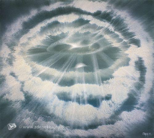 Průnik světla, 1994, olej, 60 x 80 - ZDENĚK HAJNÝ - Galerie Cesty ke světlu