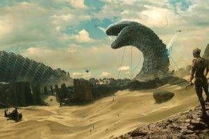 science fiction, Desert, Sand, Dune (series) Wallpaper