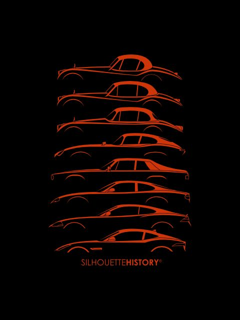 Big Cat Coupe SilhouetteHistorySilhouettes of Jaguar coupes: XK120 1948, XK140 1954, XK150 1957, E-Type (XKE) 1961, XJ-S 1975, XK-8 1996, XK 2006, F-Type 2013Home | FB | Instagram | Twitter