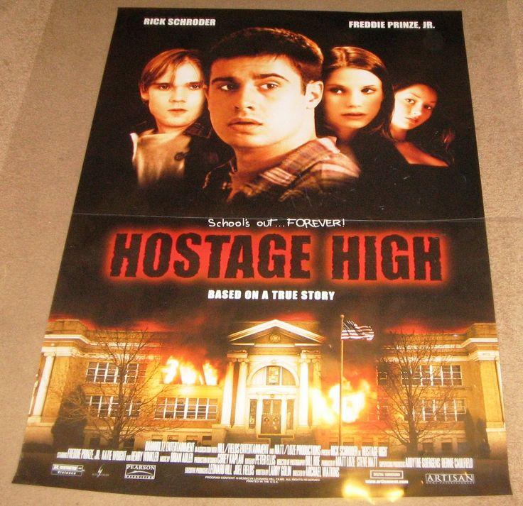 Hostage High 1997 Movie Poster 27x40 Used Ricky Schroder, Freddie Prinze Jr., Katie Wright