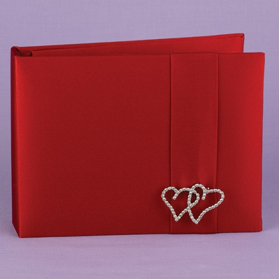 With All My Heart Claret Guest Book
