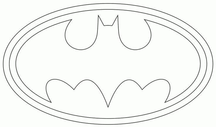 17 best images about batman template on pinterest hip for Batman logo coloring pages