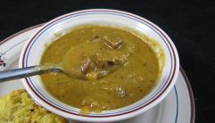 Closet Cooking's Fabulous Creole Split Pea Soup with Andouille