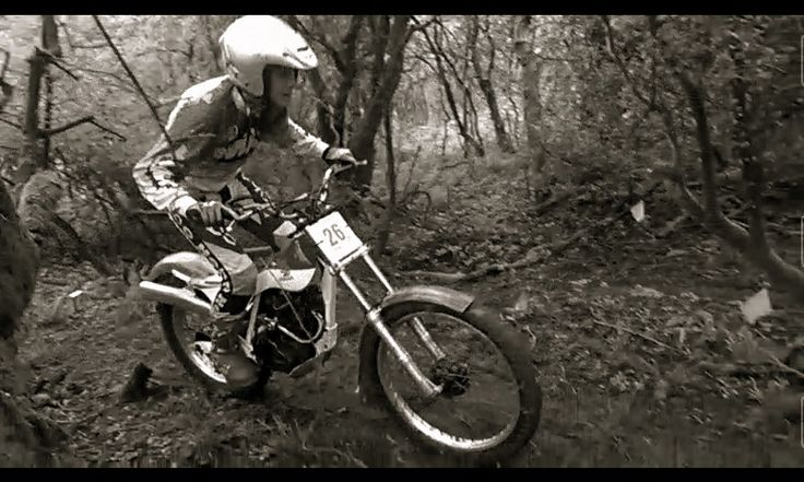 Classic Trials Biking on a Honda tlr 250.