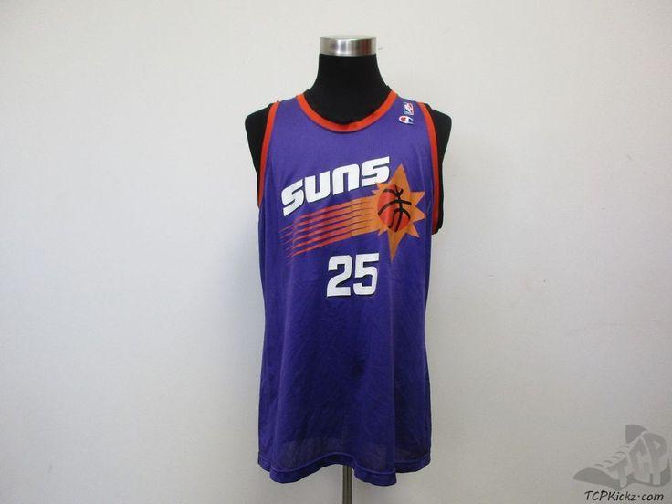Vtg 90s Champion Phoenix Suns Oliver Miller #25 Basketball Jersey sz 44 NBA RARE #Champion #PhoenixSuns #tcpkickz