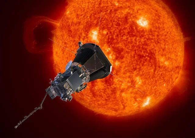 Touching the Sun: NASA Mission Renamed 'Parker Solar Probe' |  Space.com 5/31/17 An artist's illustration of NASA's Parker Solar Probe spacecraft, formerly known as Solar Probe Plus, studying the sun. The mission is scheduled to launch in July 2018