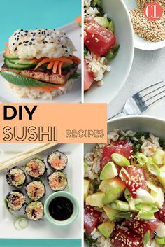 Skip the floating sushi boats and high prices at Japanese restaurants, and make sushi at home. The combinations are endless, and creativity is encouraged. You really only need a few ingredients and a towel (no need for a bamboo mat), and you can get rolling. If sushi rolls aren't for you, fresh poke bowls, sushi sliders, and burritos are light yet satisfying meals that will cure your cravings. Here are easy recipes to get your at home sushi journey started. | Cooking Light