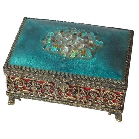 I pinned this Vintage Limoges Jewelry Box from the Kim Hoegger Home event at Joss and Main!