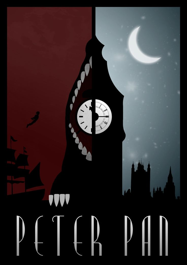 Disney's Peter Pan Minimalist Poster. $21.00, via Etsy.