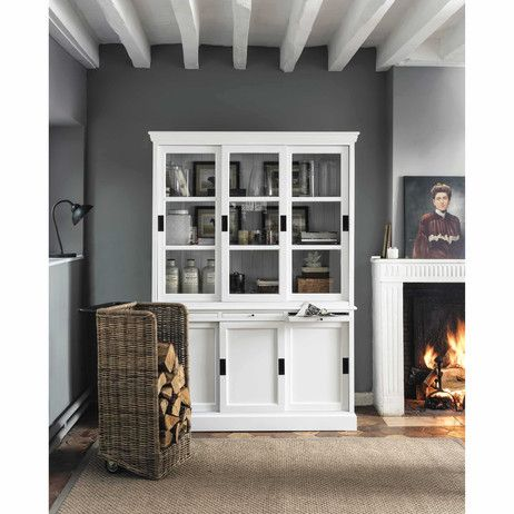 Credenza bianca in legno L 140 cm Bastille | Maisons du Monde