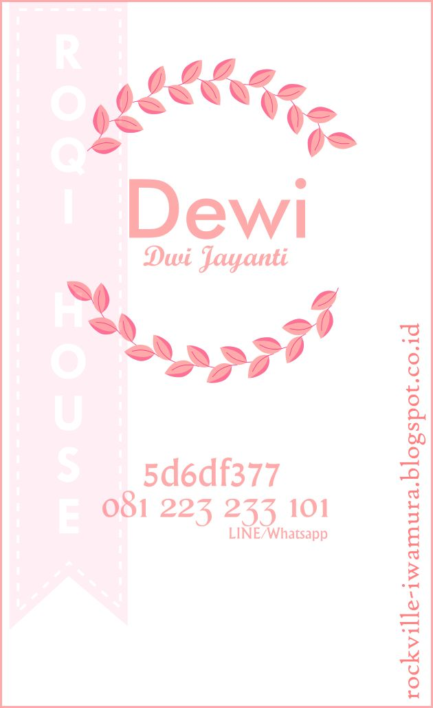 Kartu Nama | Name Card | Bussiness Card | Flat Design | Minimalis Design | Desain Minimalis | Desain Simple | Desain Grafis | Graphic Design | Custom Design | Desain Sendiri | Desain Custom | Desain Bagus | Roqi House | Whatsapp/Line +6281223233101 | bbm 5d6df377 | dj_hatsuka@yahoo.com | Kartu Nama (bagian depan) yg aku desain sendiri. please enjoy ^^