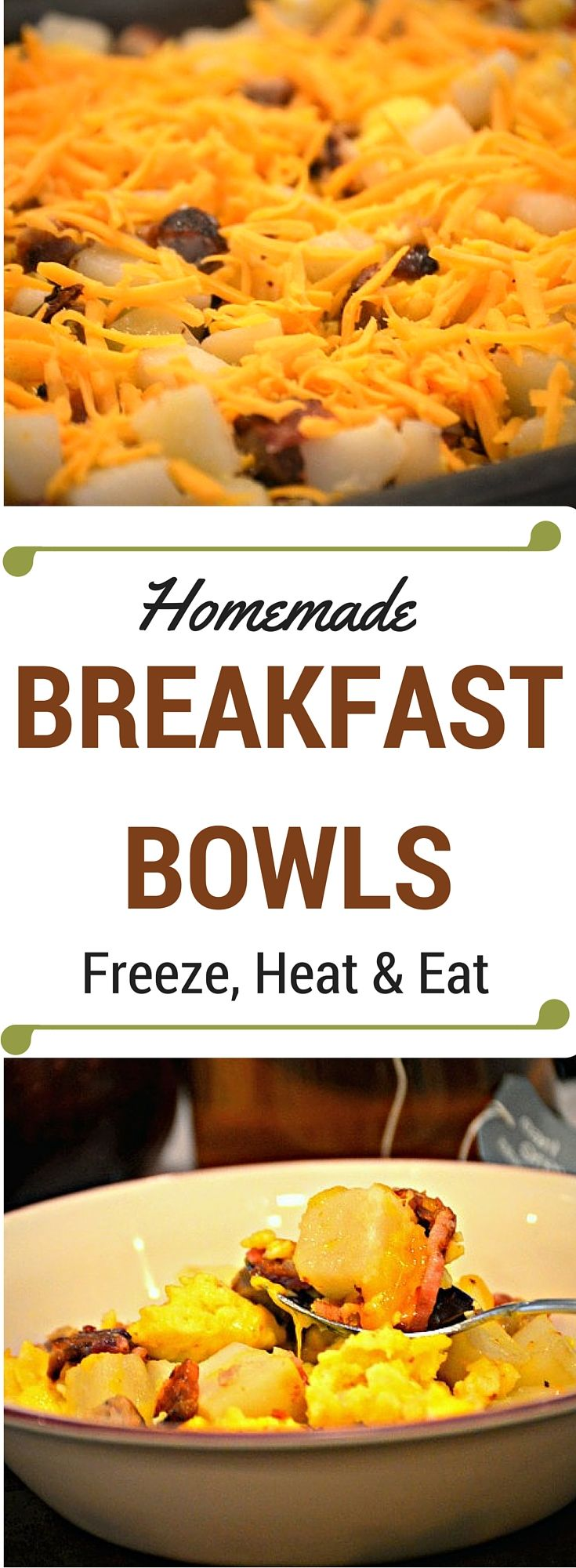 Not a morning person but still like to feed your family a hot breakfast? This Homemade Breakfast Bowls recipe freezes brilliantly and reheats in just minutes!