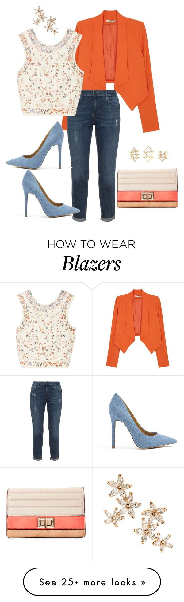 """""""Blazer look"""" by myidealoutfits on Polyvore featuring Alice + Olivia, Etro, Melie Bianco, Bonheur and Charlotte Russe"""