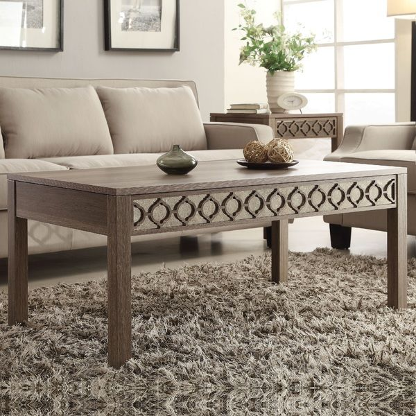 Helena Sun-Bleached Oak Coffee Table - Overstock™ Shopping - Great Deals on Office Star Products Coffee, Sofa & End Tables