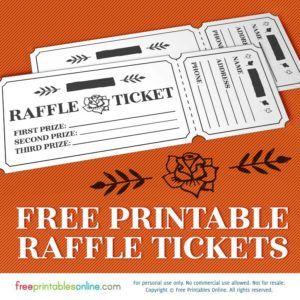 Printable Rosy Raffle Tickets: Free Raffle Template