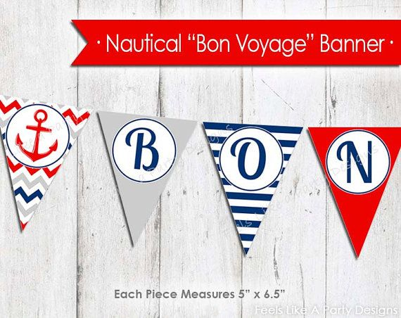 nautical bon voyage banner