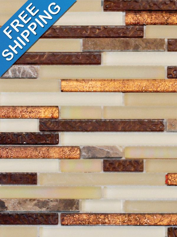 Copper Glass Tile Backsplash Droughtrelief